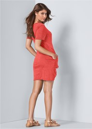 Full back view Knotted Casual Dress
