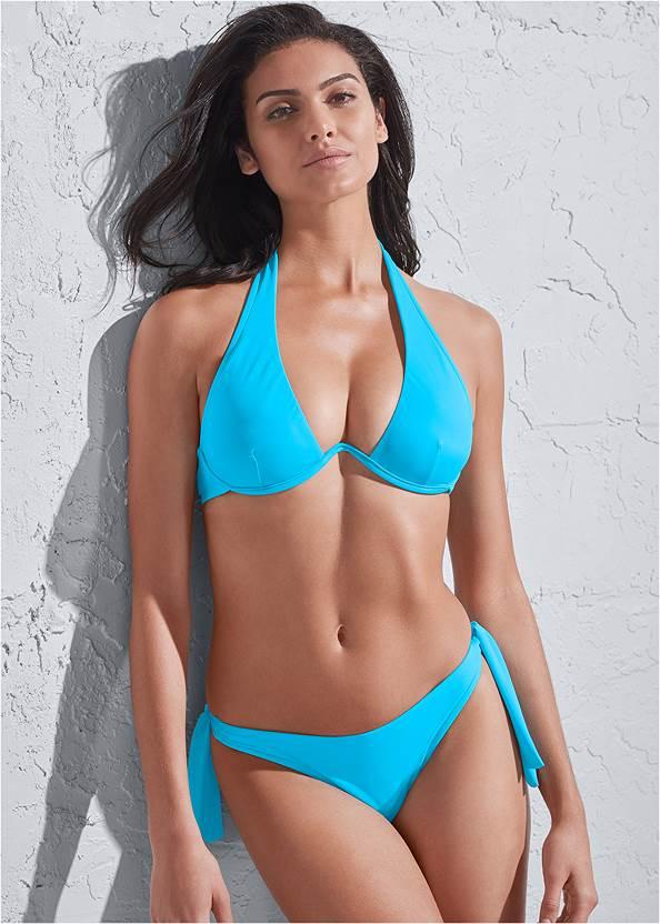 Sports Illustrated Swim™ Continuous Underwire Bra Top,Sports Illustrated Swim™ Sash Tie Side Bottom,Sports Illustrated Swim™ Tie Side String Bottom,Sports Illustrated Swim™ High Leg Ruched Bottom