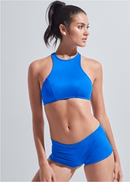 Full front view Sports Illustrated Swim™ High Neck Sport Top