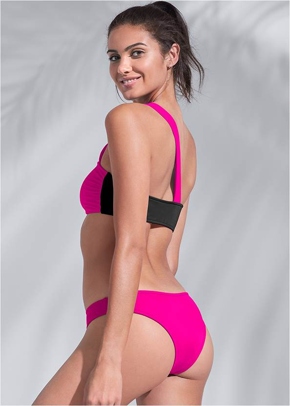 Full back view Sports Illustrated Swim™ One Shoulder Bandeau Top