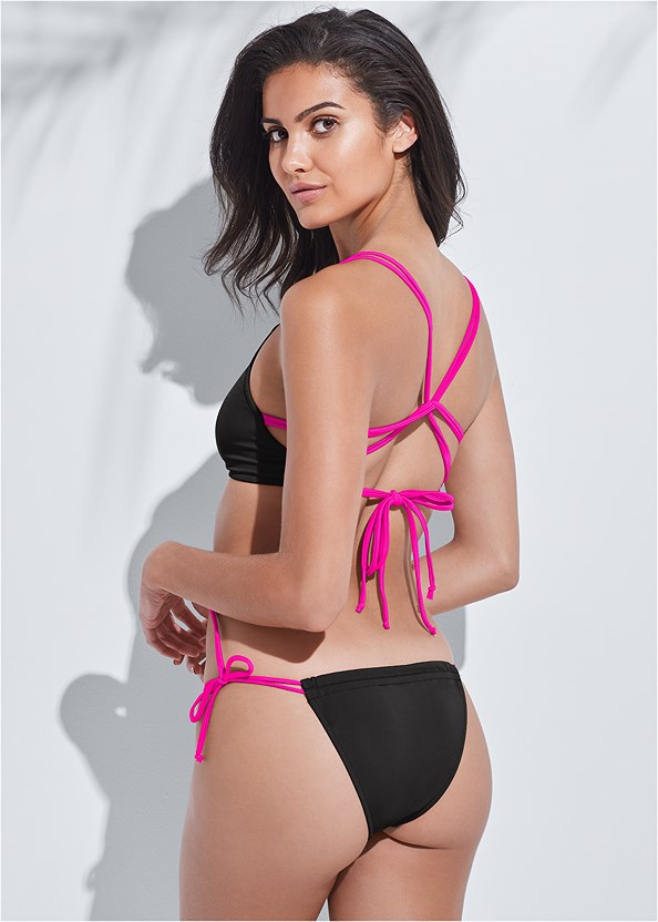 Sports Illustrated Swim™ Micro Adjustable Bottom,Sports Illustrated Swim™ Party In The Back Sport Top,Sports Illustrated Swim™ One Shoulder Bandeau,Sports Illustrated Swim™ Brazilian Bralette,Sports Illustrated Swim™ Spider Web Triangle Top