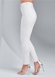 Alternate View Jewel Studded Straight Leg Jeans