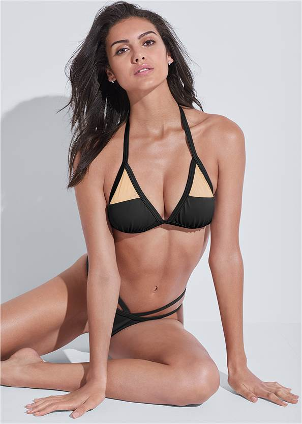 Full front view Sports Illustrated Swim™ Strappy Banded Bottom