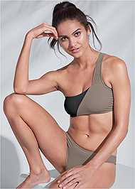 Full front view Sports Illustrated Swim™ One Shoulder Bandeau Top