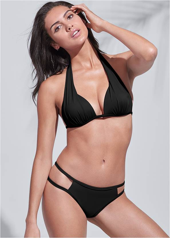 Full front view Sports Illustrated Swim™ Cut Out Sides Bottom
