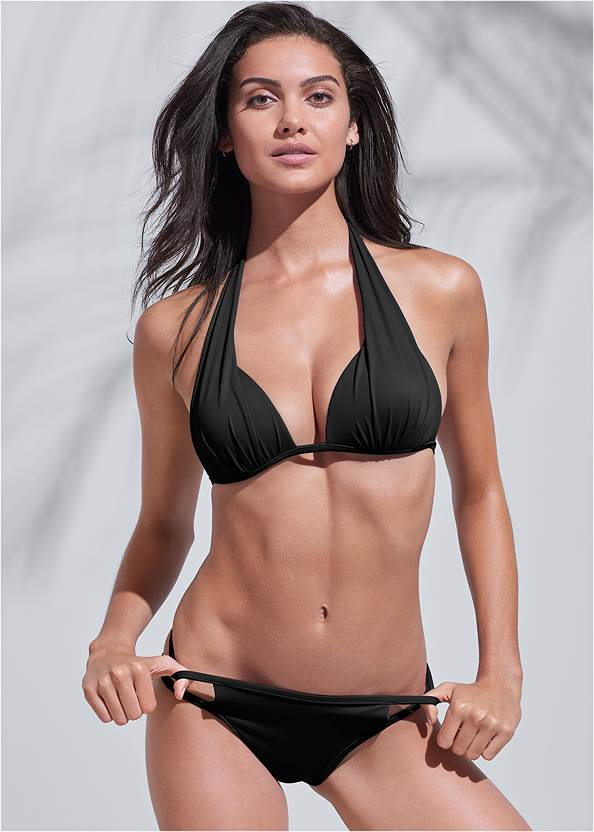 Sports Illustrated Swim™ Cut Out Sides Bottom,Sports Illustrated Swim™ Double Strap Triangle Top,Sports Illustrated Swim™ Spider Web Triangle Top,Sports Illustrated Swim™ Continuous Underwire Bra Top