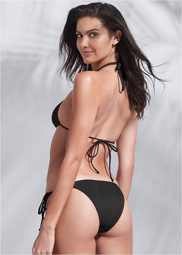 Full back view Sports Illustrated Swim™ Spider Web Triangle Top