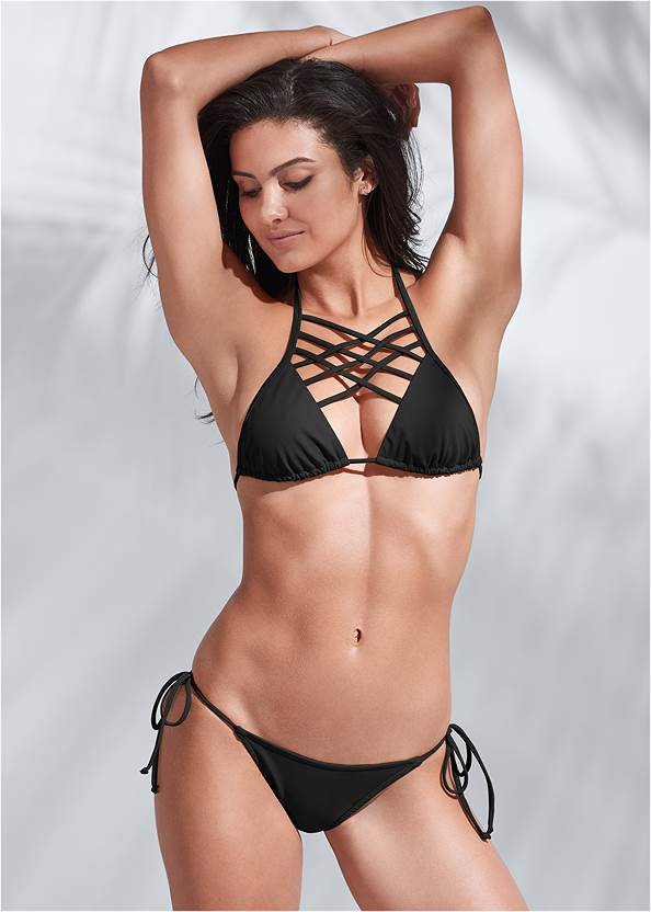 Full front view Sports Illustrated Swim™ Spider Web Triangle Top