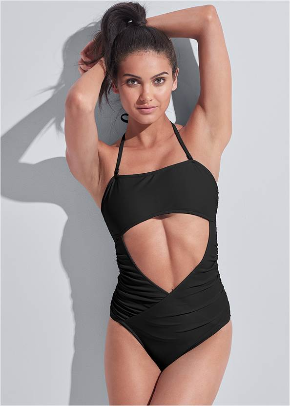 Sports Illustrated Swim™ Cut Out Bandeau One-Piece