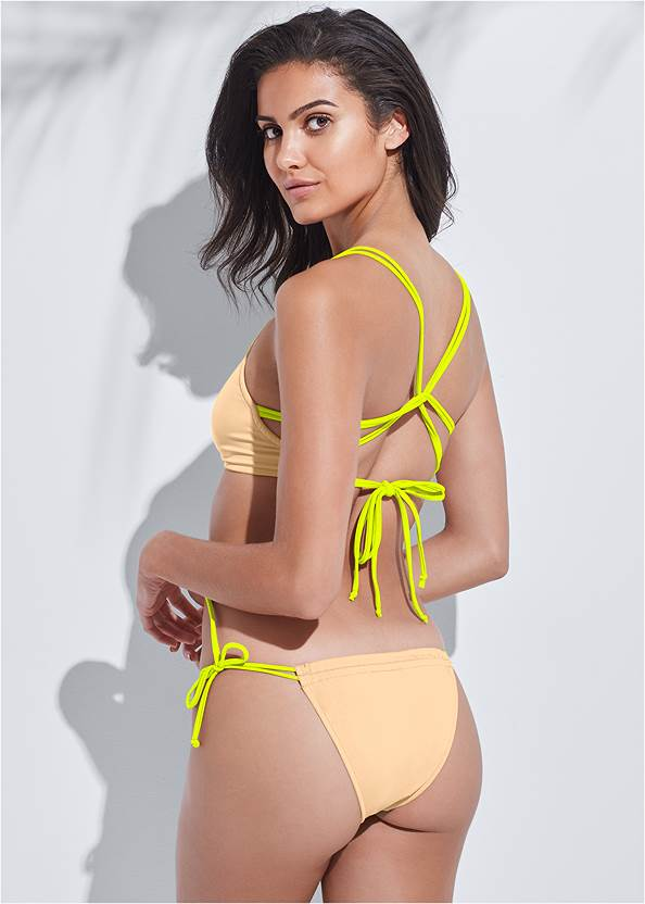Sports Illustrated Swim™ Party In The Back Sport Top,Sports Illustrated Swim™ Micro Adjustable Bottom,Sports Illustrated Swim™ Strappy Banded Bottom,Sports Illustrated Swim™ Adjustable Coverage Bottom,Sports Illustrated Swim™ Tie Side String Bottom