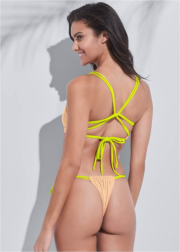 Full back view Sports Illustrated Swim™ Party In The Back Sport Top