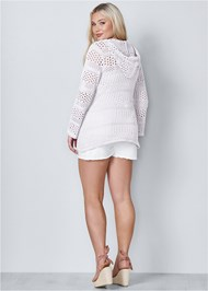 Back View Long Sleeve Hooded Sweater