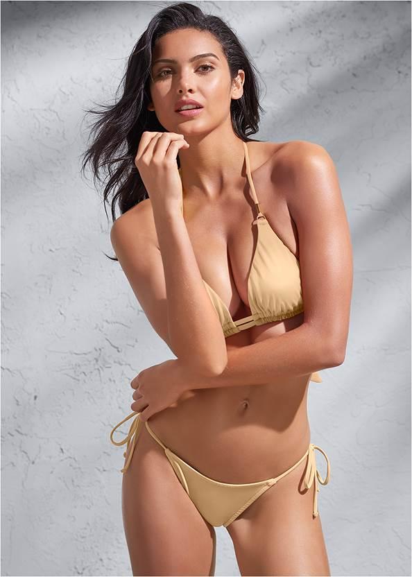 Sports Illustrated Swim™ Double Strap Triangle Top,Sports Illustrated Swim™ Tie Side String Bottom,Sports Illustrated Swim™ Micro Adjustable Bottom