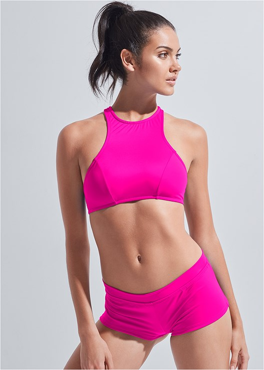 SPORTS ILLUSTRATED SWIM™ CHEEKY SHORT,SPORTS ILLUSTRATED SWIM™ HIGH NECK SPORT TOP,SPORTS ILLUSTRATED SWIM™ PUSH UP HALTER TOP,SPORTS ILLUSTRATED SWIM™ SPIDER WEB TRIANGLE TOP,SPORTS ILLUSTRATED SWIM™ DOUBLE STRAP TRIANGLE