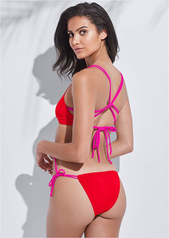 Sports Illustrated Swim™ Party In The Back Sport Top,Sports Illustrated Swim™ Micro Adjustable Bottom,Sports Illustrated Swim™ Tie Side String Bottom,Sports Illustrated Swim™ High Waist Bottom,Sports Illustrated Swim™ High Leg Ruched Bottom,Sports Illustrated Swim™ Cheeky Short