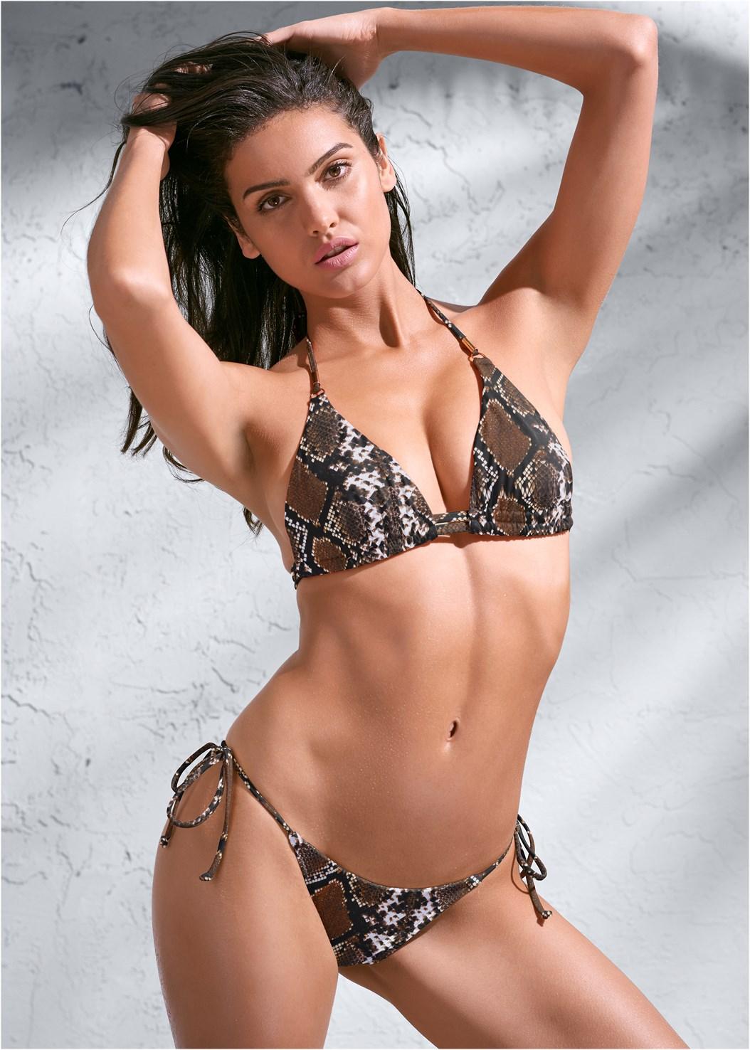 Sports Illustrated Swim™ Double Strap Triangle,Sports Illustrated Swim™ Tie Side String Bottom,Sports Illustrated Swim™ Sash Tie Side Bottom