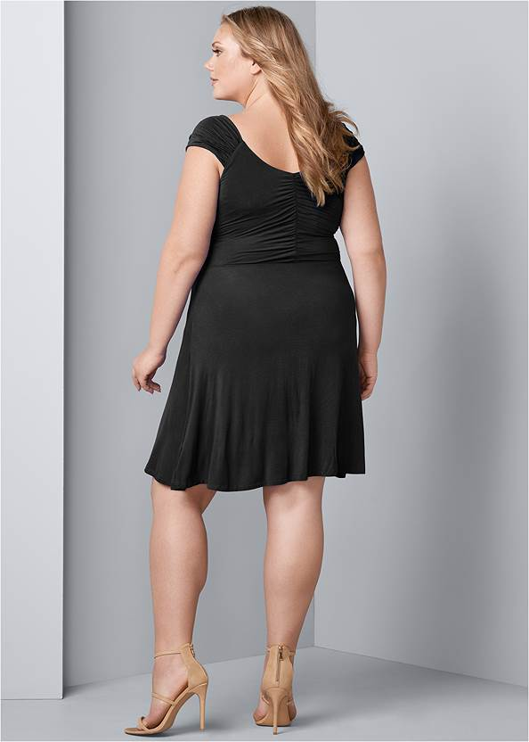 Back View Draped Front Dress