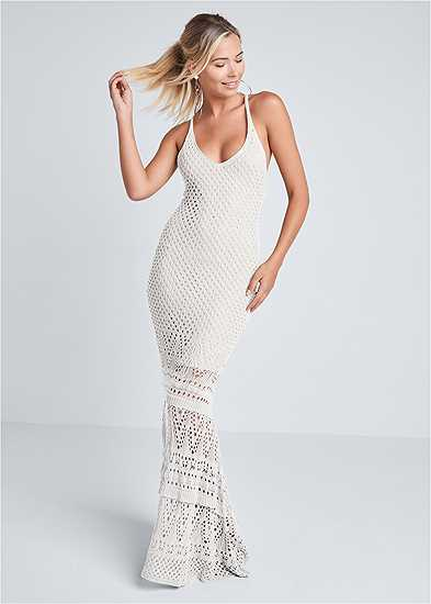 Crochet Tank Maxi Dress