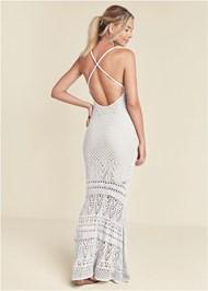 Full back view Crochet Tank Maxi Dress