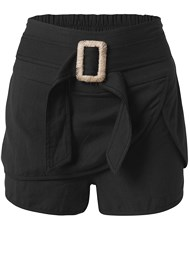Ghost with background  view Belted Linen Shorts