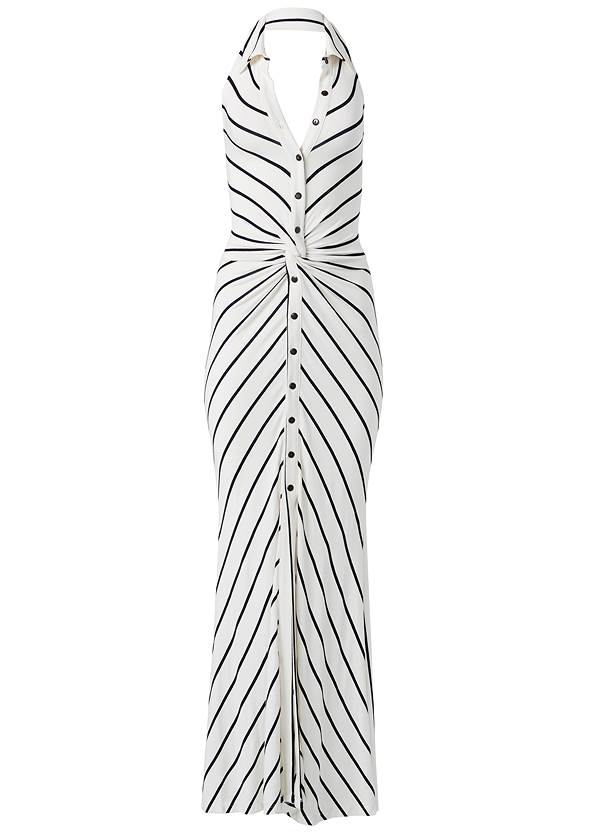 Ghost with background  view Collared Stripe Maxi Dress