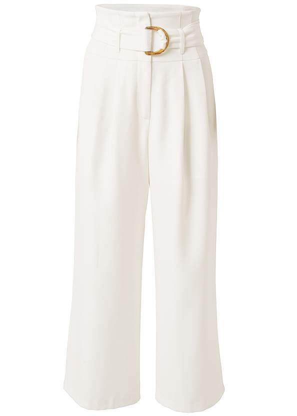 Ghost with background  view Belted High Waist Culotte Length Pants