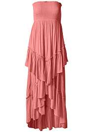 Alternate View Tiered Smocked Maxi Dress