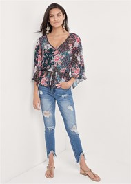 Full front view Paisley Mesh Top