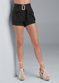 Alternate View Belted Linen Shorts