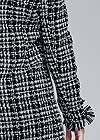 Detail back view Open Front Tweed Fringe Jacket