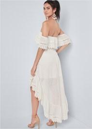 Alternate View Eyelet High Low Dress