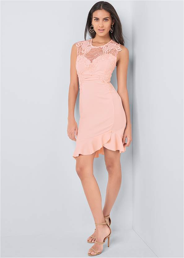 Full front view Lace Detail Dress