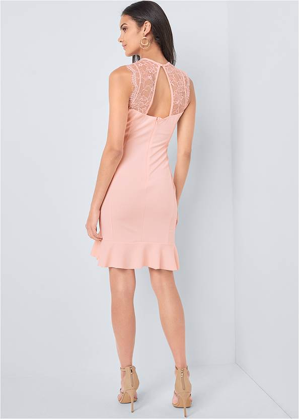 Full back view Lace Detail Dress