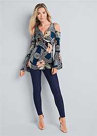 Alternate View Paisley Cold Shoulder Top
