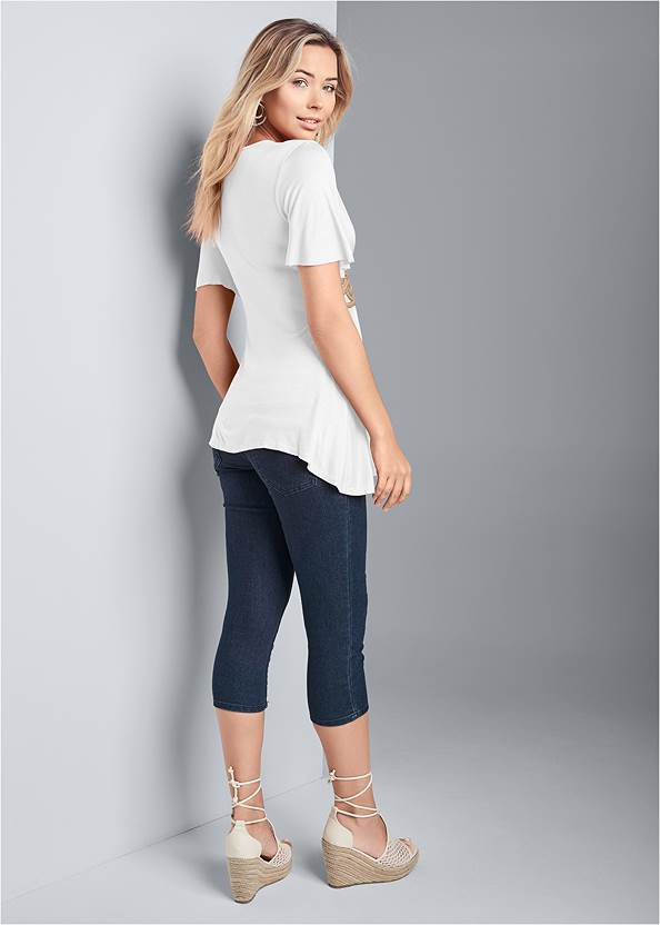 Back View Braided Trim Top
