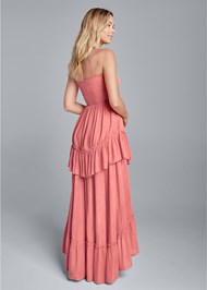 Back View Tiered Smocked Maxi Dress