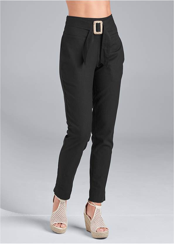 Alternate View Belted Linen Pants