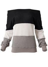 Alternate View Waffle Knit Sweatshirt