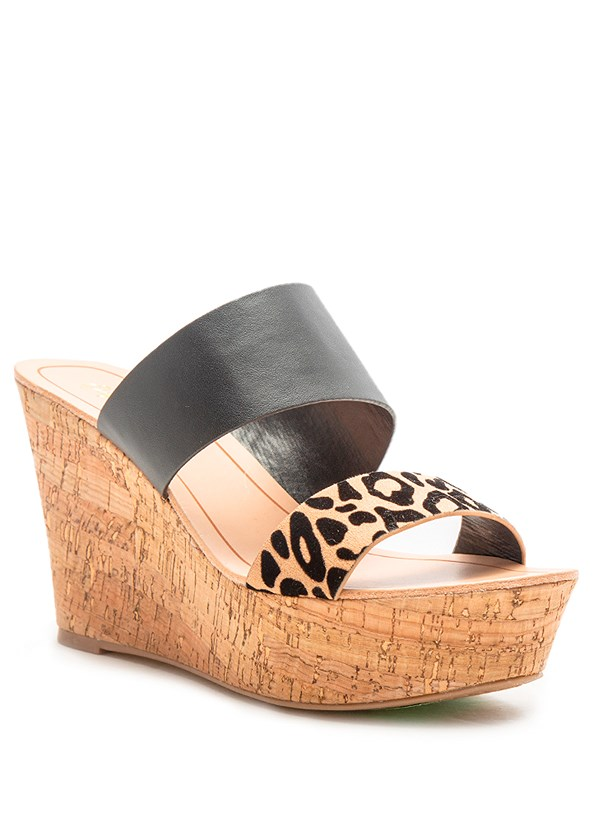 Double Strap Cork Wedge