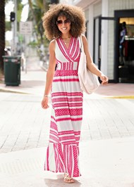 Full  view Smocked Waist Maxi Dress