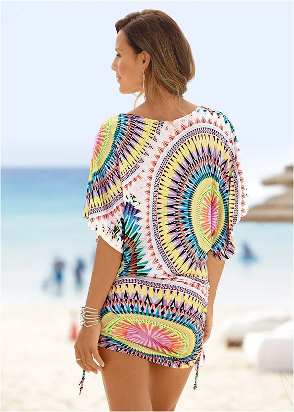 Back View Abstract Convertible Dress
