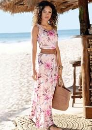 Front View Floral Maxi Dress