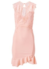 Ghost  view Lace Detail Dress