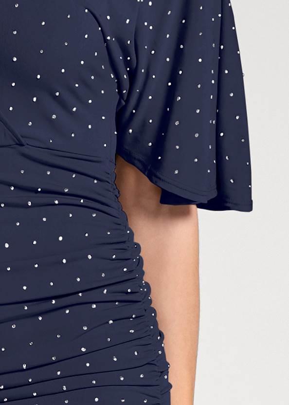 Alternate View Embellished Flutter Dress
