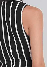 Detail back view Striped Knot Twist Top