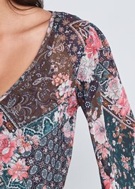 Detail front view Paisley Mesh Top