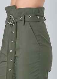 Detail side view Belted High Waist Utility Pants