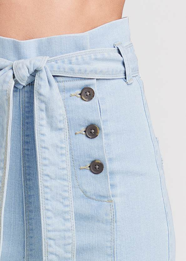 Alternate View Flare Leg High Waist Jeans