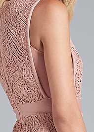 Alternate View Lace V-Neck Bandage Dress