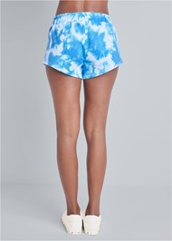 Detail front view Tie Dye Puff Sleeve Shorts Set